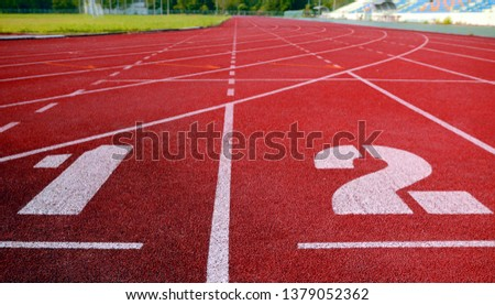 track filed, running, Athlete Track or Running Track , running track, red lane sport #1379052362