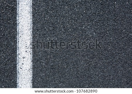 Track Surface and Line from the Lane for sports background
