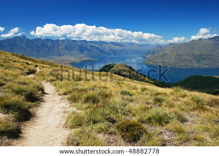 Track to Ben Lomond, Queenstown, New Zealand
