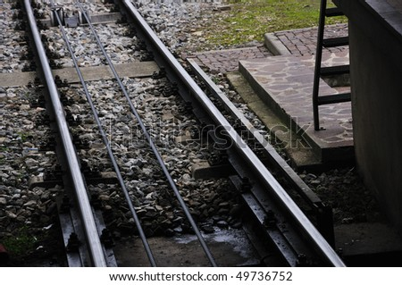 Tracks for funicular, cable-railway