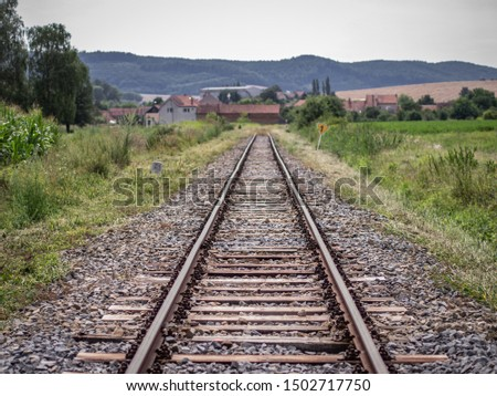 Tracks Leading to a Moravian Village