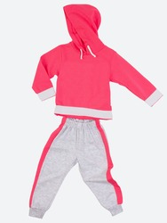 Tracksuit runs without a body on a white background