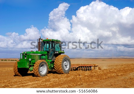 tractor at field