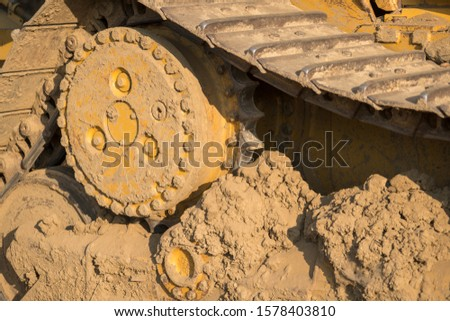 Tractor heavy equipment track tread gear #1578403810