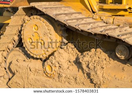 Tractor heavy equipment track tread gear