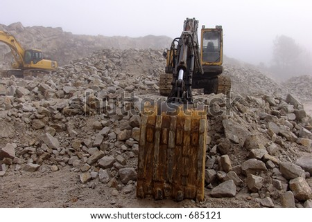 tractor in a quarry