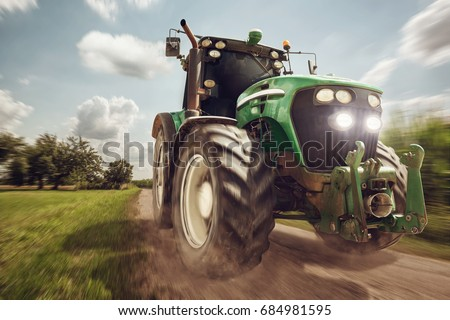 Tractor in full speed #684981595