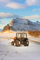 Tractor in Iceland