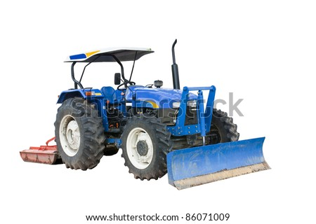 Tractor isolated on white background with clipping path
