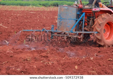 Tractor sprayer for agriculture. #509372938