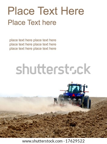 tractor working on a white background