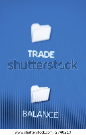 trade and balance folder - stock photo