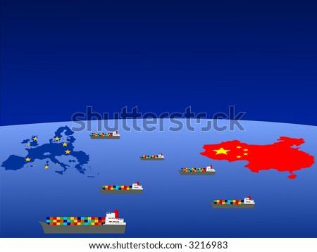 B between europe and china