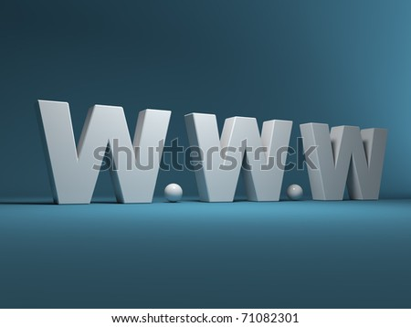 Trade mark of a world wide web 3D