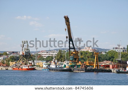 Trade sea port Varna, Bulgaria, Black sea