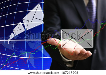 Trader get the news of stock exchange