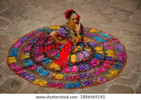 Tradicional dress from the state of Chiapas Mexico Foto stock ©