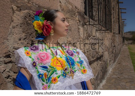 Tradicional dress from the state of Yucatan Foto stock ©