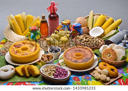 Tradicional food of Northeast, Brazil, Saint John Party