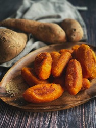 """Tradisional Sweet food is called """" Cek Mek Molek"""". Maked from mashed sweet potatoes resulting a rather doughy texture after frying. This is Kelantan Popular Dish."""
