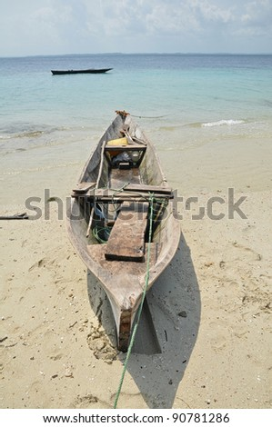Traditional African fishing dhows