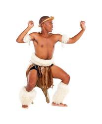 traditional african man studio portrait