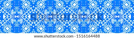 Traditional African Pattern. Boho Seamless Print. Turquoise Ornate Endless Background. White Endless Design. Watercolour Navajo Ornament. Gradus Blue Traditional African Pattern.
