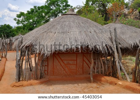 traditional african village,Mpumalanga province,South Africa