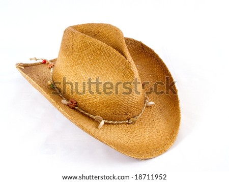 Traditional American cowboy hat