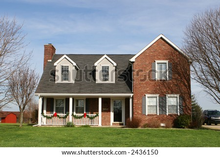 Traditional american home stock photo 2436150 shutterstock for Traditional american home