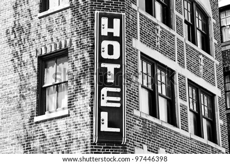 Traditional American Hotel - stock photo