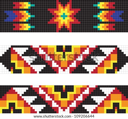 Traditional American Indian pattern,  illustrations