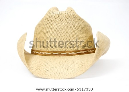 Traditional American straw hat of cowboy