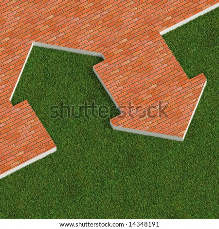 traditional and eco house metaphor background