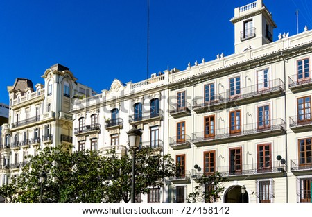 Traditional antique city building in valencia, Spain #727458142