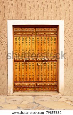 Traditional arabic doorway (National museum, Riyadh, Saudi Arabia)