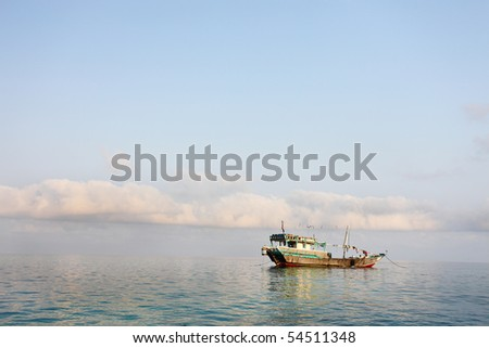 Traditional Arabic fishing boat