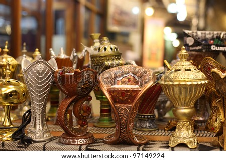 Traditional Arabic incense burner in Doha, Qatar