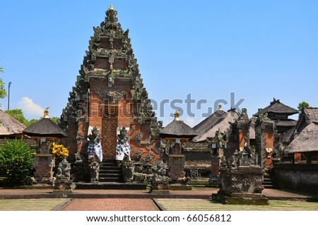 Traditional architecture of temples. Bali, Indonesia.