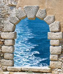 Traditional architecture on Mykonos island, Greece