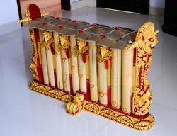 Traditional Balinese Gamelan called Gender. Gamelan, traditional music instruments in Bali and Java, Indonesia.