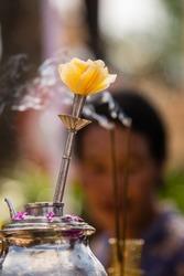 Traditional Balinese Priest prayer rituals