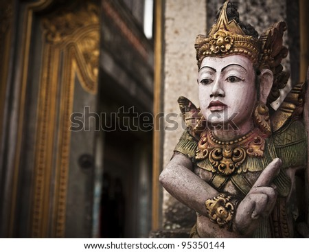 Traditional balinese statue.