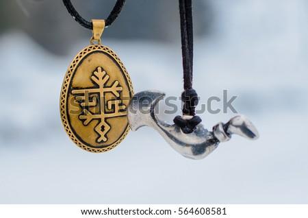 Traditional Baltic pagan amulet set.  #564608581