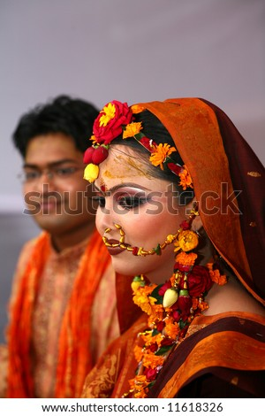 stock photo Traditional Bangladeshi wedding Dhaka Bangladesh
