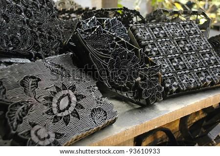 Traditional Batik blocks used in batik printing