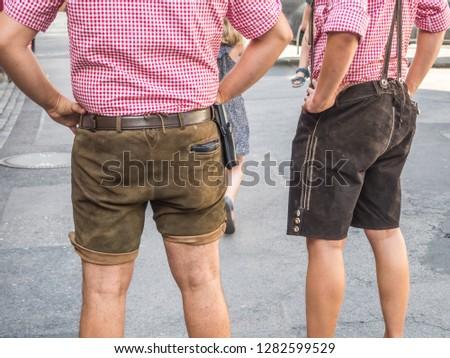 traditional  Bavarian boys