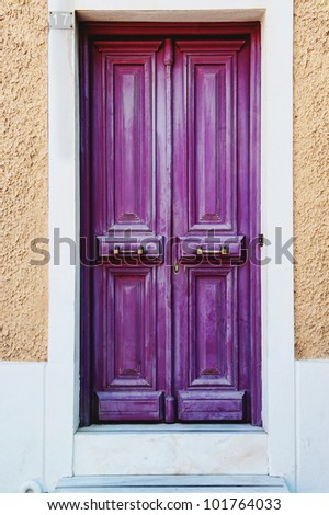 traditional beautiful and colorful door