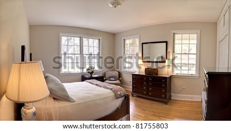 traditional bedroom with antique furniture