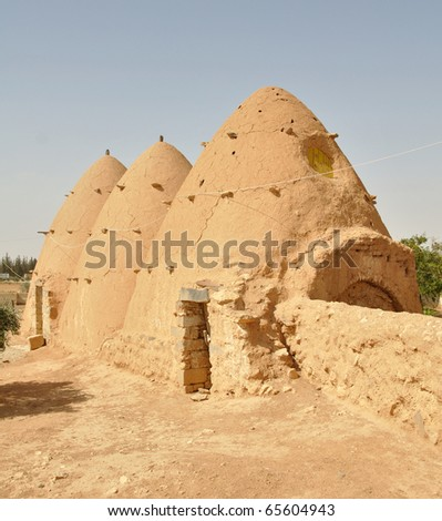 Traditional Beehive houses in Sarouj village, Syria.